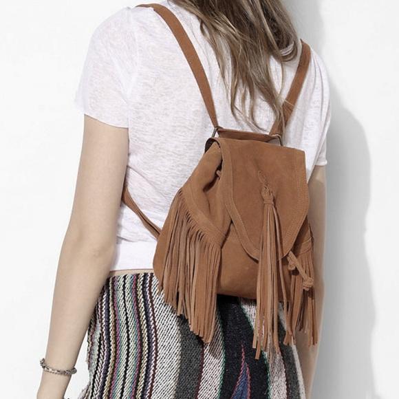 e55fa52ae6 Ecote Handbags - UO Ecoté Suede Fringe SAHARA Mini Backpack